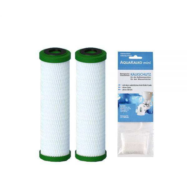 2x Filterpatrone NFP Premium Carbonit & Kalkschutz für Wasserkocher/Kaffeemaschine