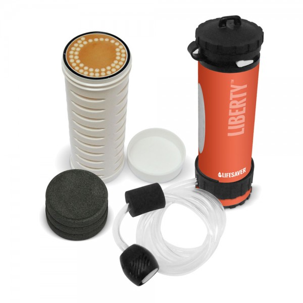 Lifesaver Liberty Reisefilter & Outdoorfilter Set orange inkl. Ersatzfilterset