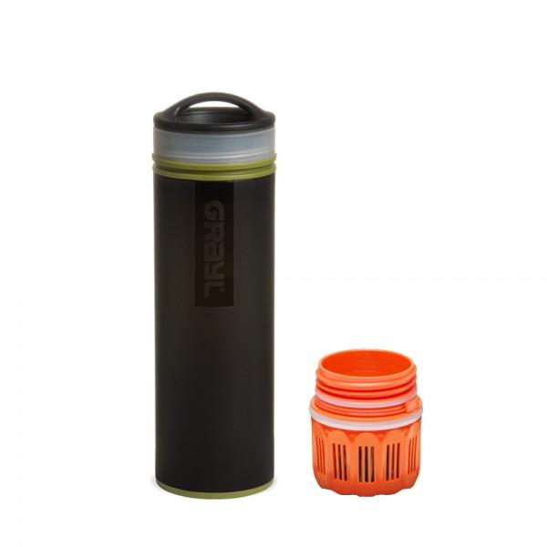 Grayl Ultralight Compact Outdoor- & Reise- Wasserfilter Camo Black mit Ersatzfilter