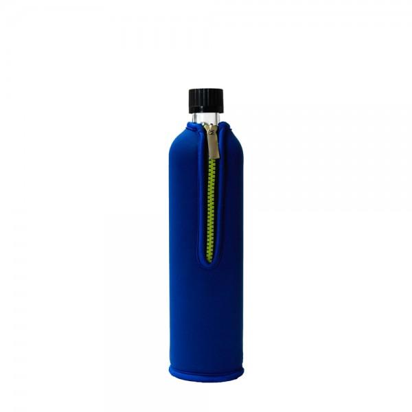 Dora's Glas-Trinkflasche 0,5 l mit Neoprenbezug, verschiedene Farben