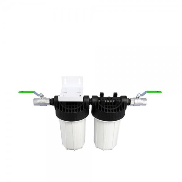 Zweistufiger Haus- & Brunnenfilter inkl. Filterpatronen 10 Zoll
