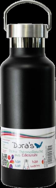 Dora's RETRO Stainless Steel Drinking & Vacuum Bottle 500 ml, different colors