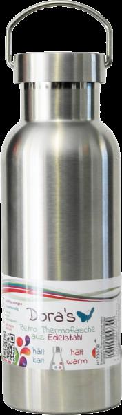 Dora's RETRO Edelstahl Trink- & Isolierflasche 0,5 l verschiedene Farben