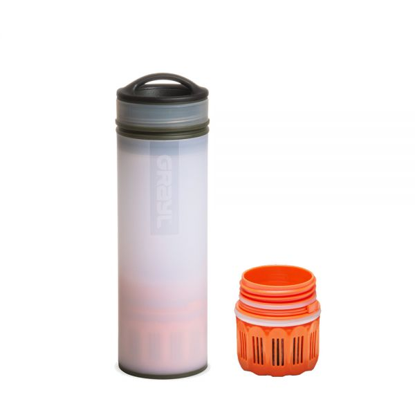Grayl Ultralight Compact Outdoor- & Reise- Wasserfilter Alpine White mit Ersatzfilter