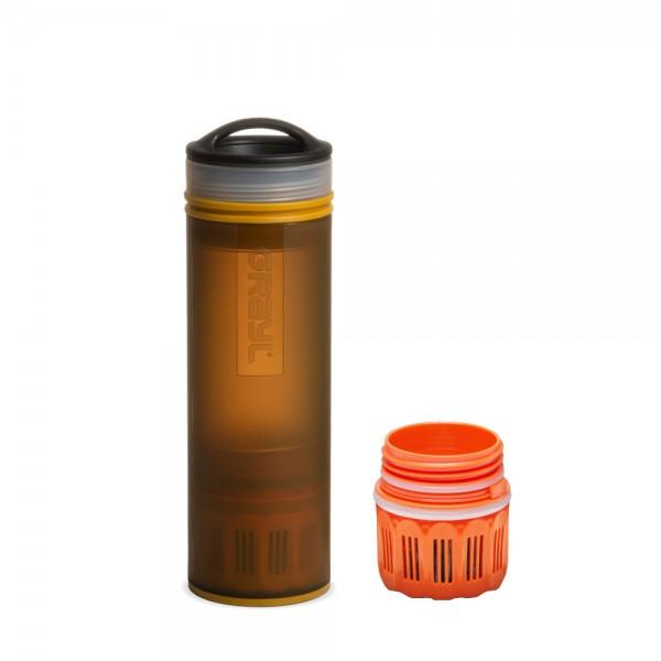 Grayl Ultralight Compact Outdoor- & Reise- Wasserfilter Coyote Amber mit Ersatzfilter