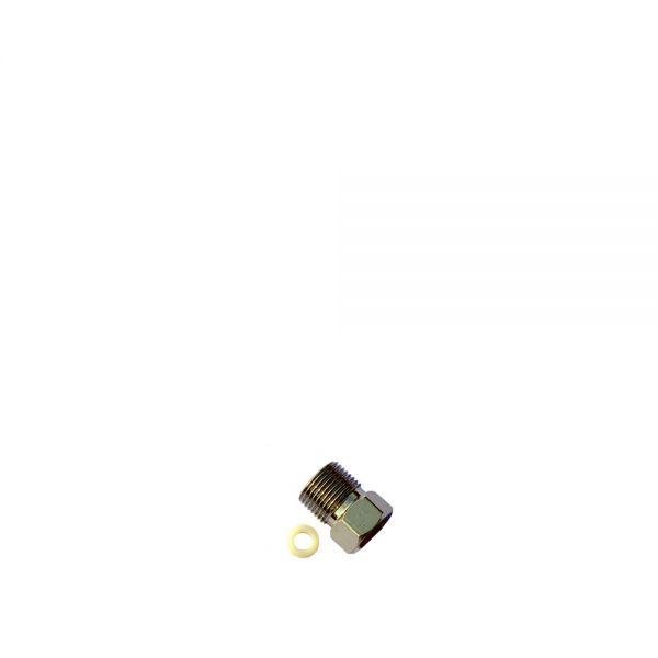 Adapter 3/8 Zoll AG - UNS 7/16-24, Messing/verchromt